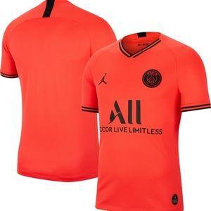 Nike PSG Jordan Orange 2019 2020 Men's Jersey Med